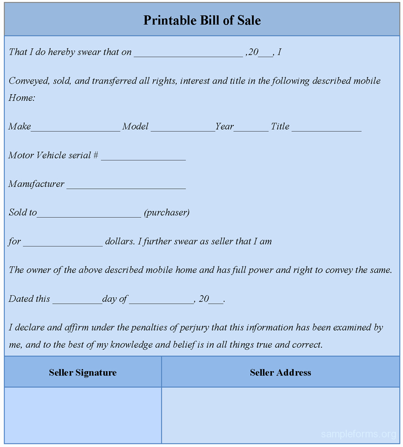 Simple Printable Bill Of Sale Lovely Printable Bill Of Sale Sample forms