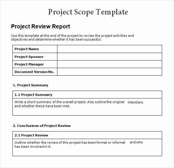 Simple Project Management Template Excel New 8 Sample Project Scope Templates – Pdf Word