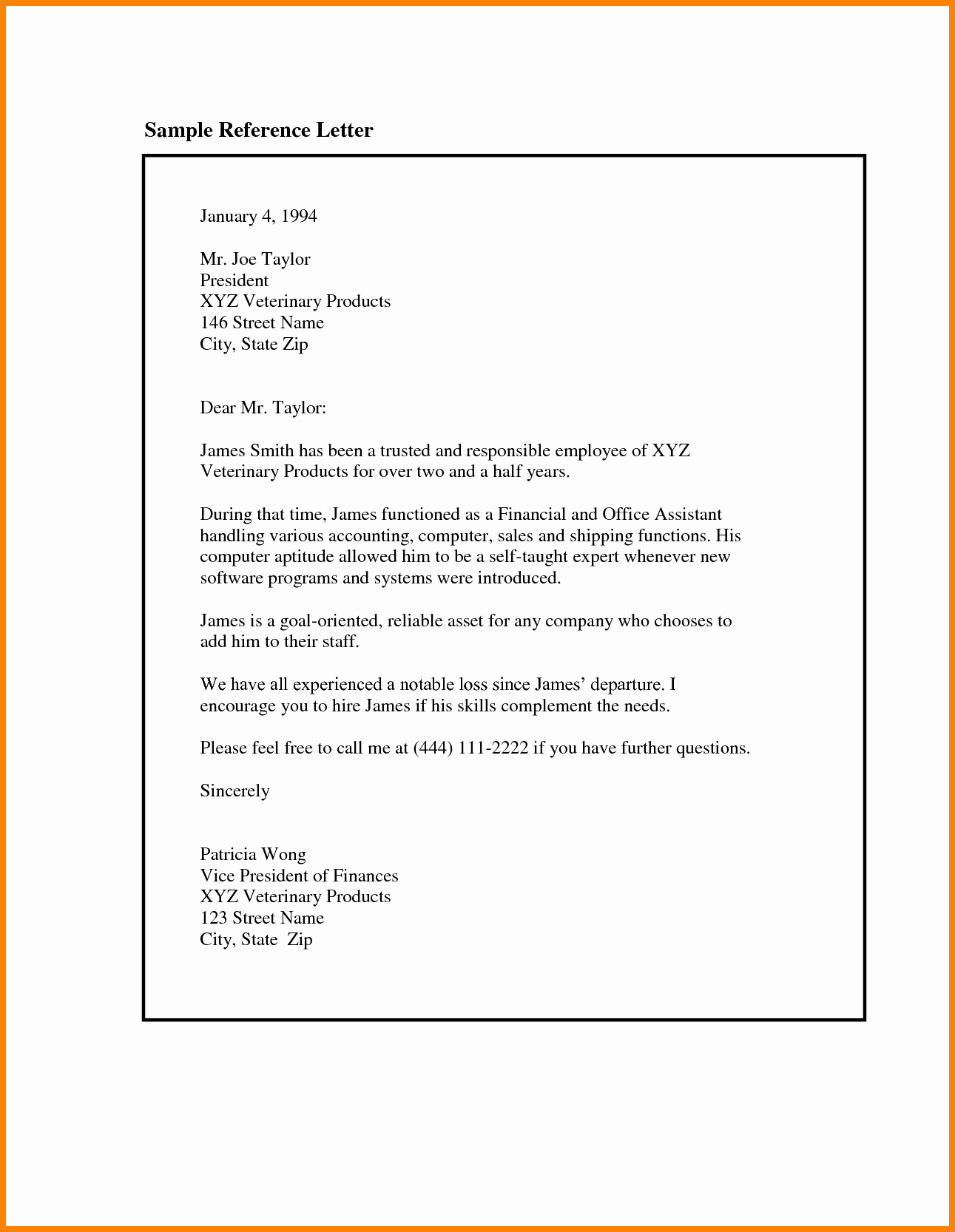 Simple Recommendation Letter for Employee Fresh 5 Job Letter Of Re Mendation Sample