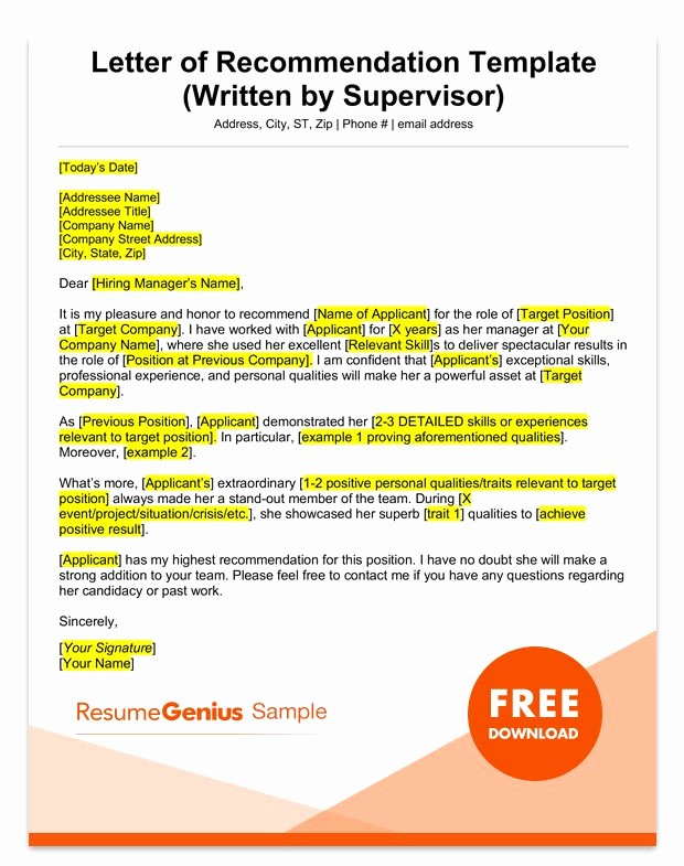 Simple Recommendation Letter for Employment Beautiful Letter Of Re Mendation Samples & Templates for