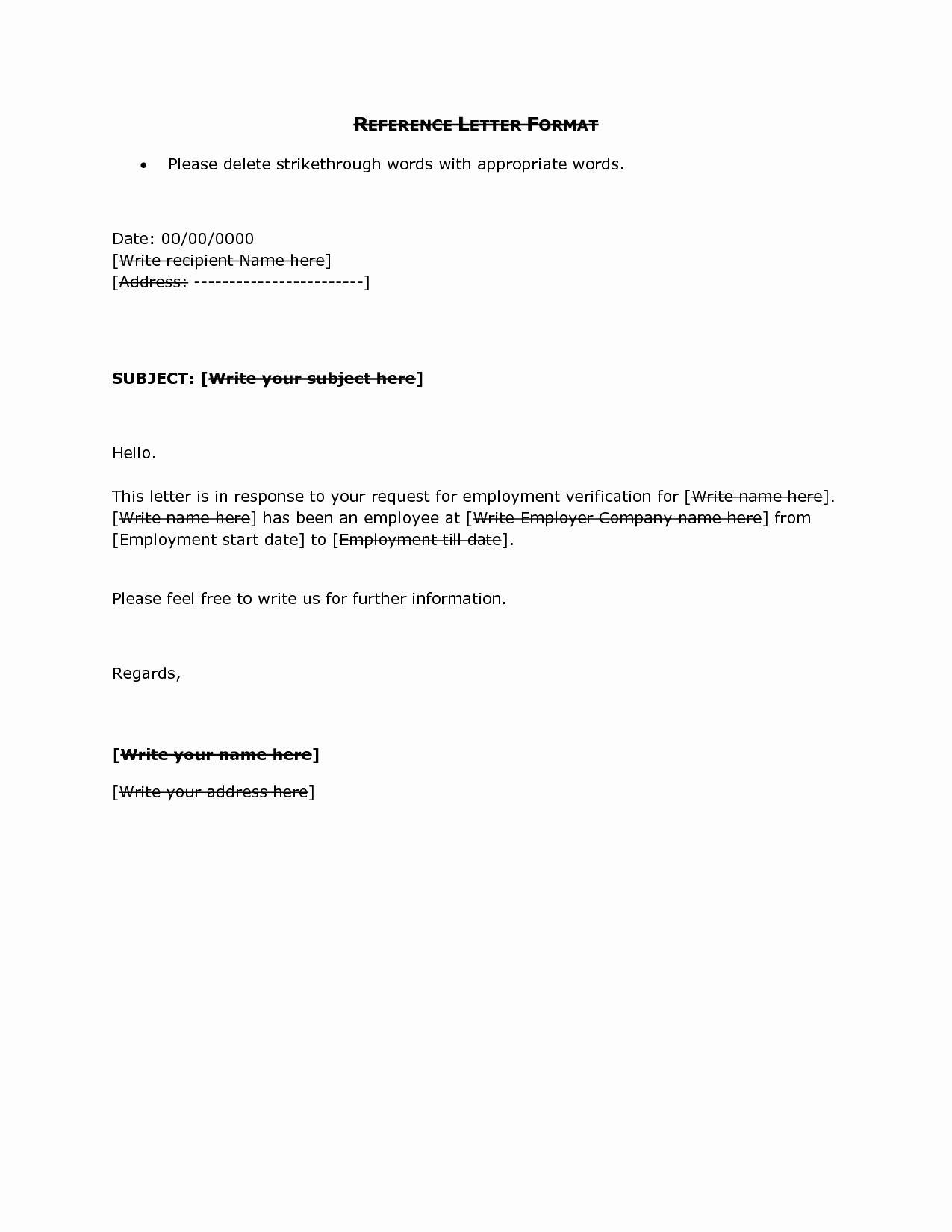 Simple Recommendation Letter for Employment Best Of Reference Letter Sample Employment Portablegasgrillweber