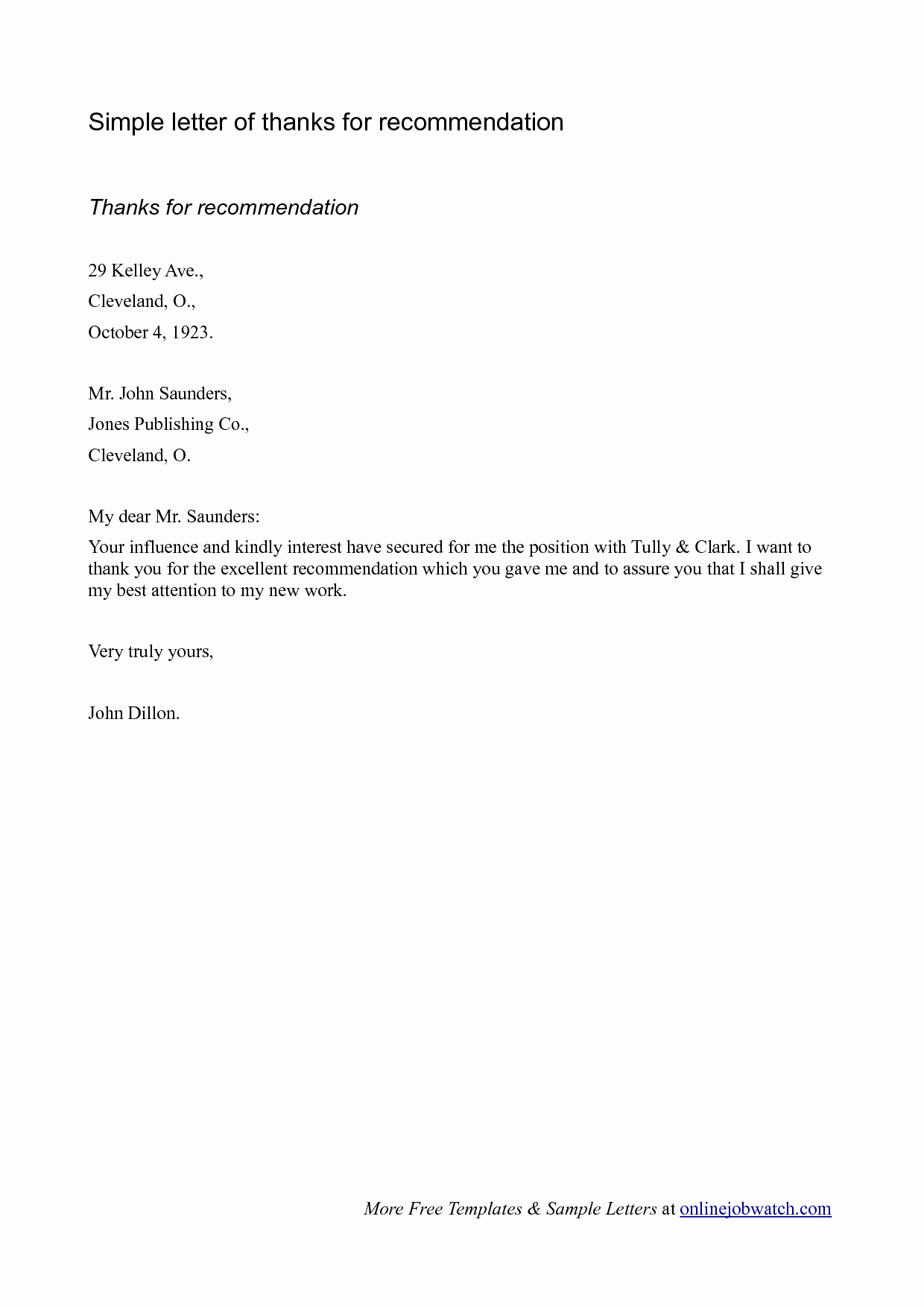Simple Recommendation Letter for Employment Inspirational Sample A Simple Re Mendation Letter Oshiborifo