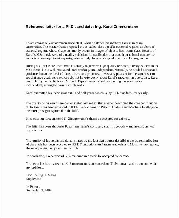 Simple Recommendation Letter for Student Elegant 8 Reference Letter Samples – Pdf Word