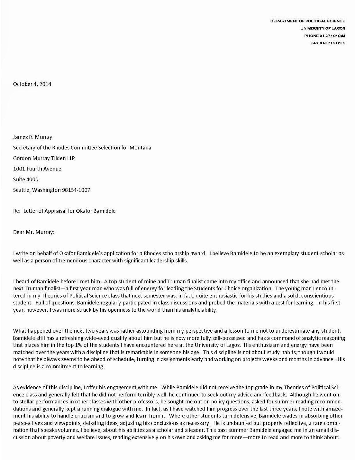 Simple Recommendation Letter for Student Elegant Sample Student Re Mendation Letter for Scholarship