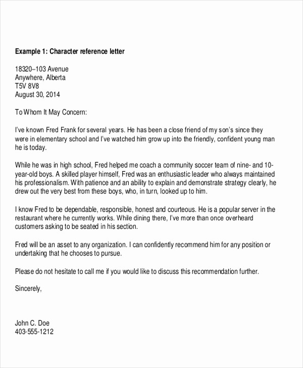 Simple Recommendation Letter for Student Inspirational 7 Sample Reference Letter for Students