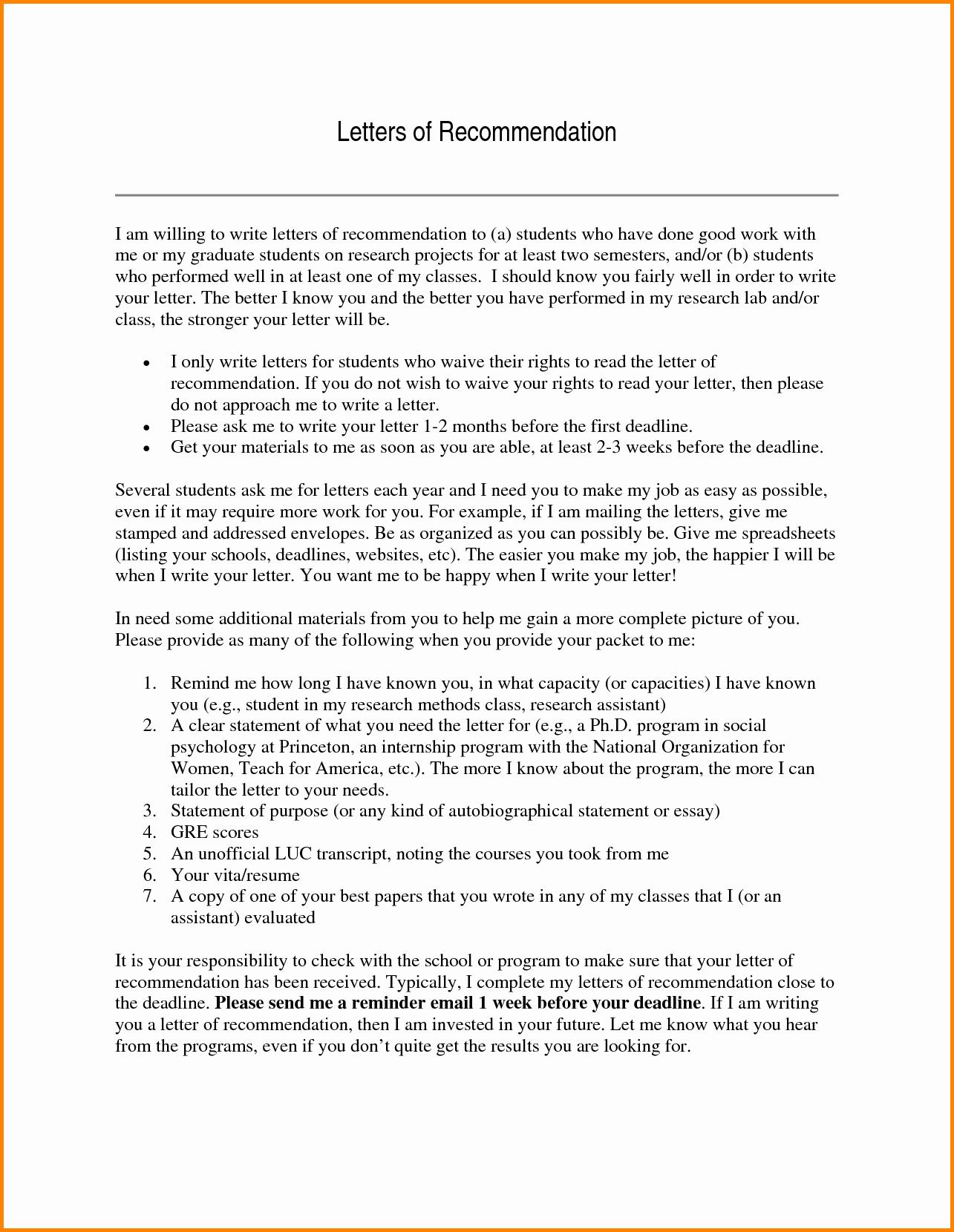 Simple Recommendation Letter for Student Unique Letter Re Mendation for Graduate Student Example