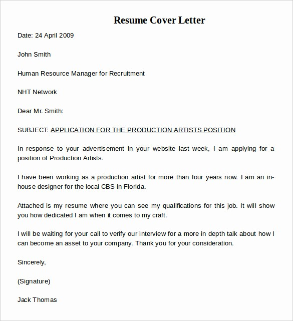 Simple Resume Cover Letter Template Awesome Resume Cover Letter Example 8 Download Documents In Pdf