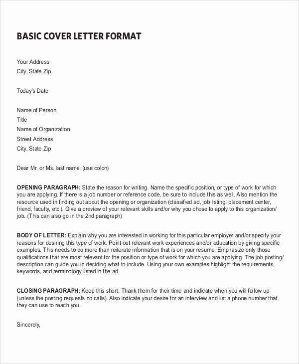 Simple Resume Cover Letter Template Fresh 7 Sample Resume Cover Letter formats