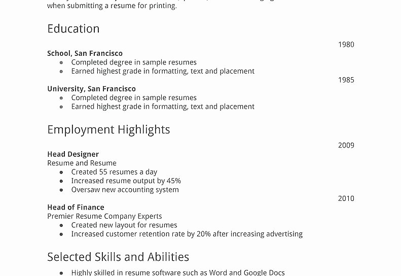 Simple Resume Examples for Jobs Awesome Simple Resume Template for First Job Basic In Examples