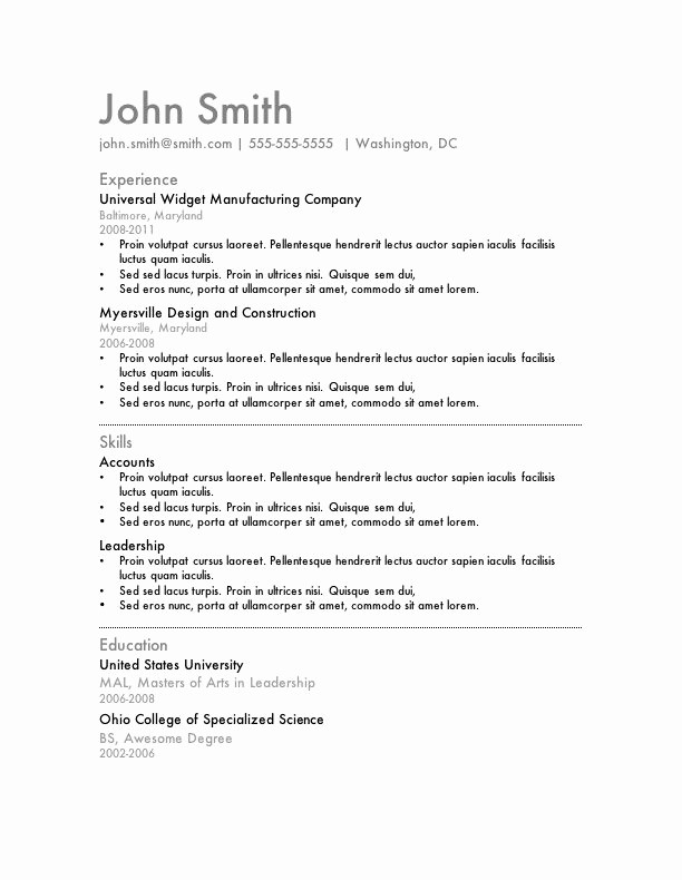Simple Resume Examples for Jobs Elegant 7 Free Resume Templates Wisdom Pinterest