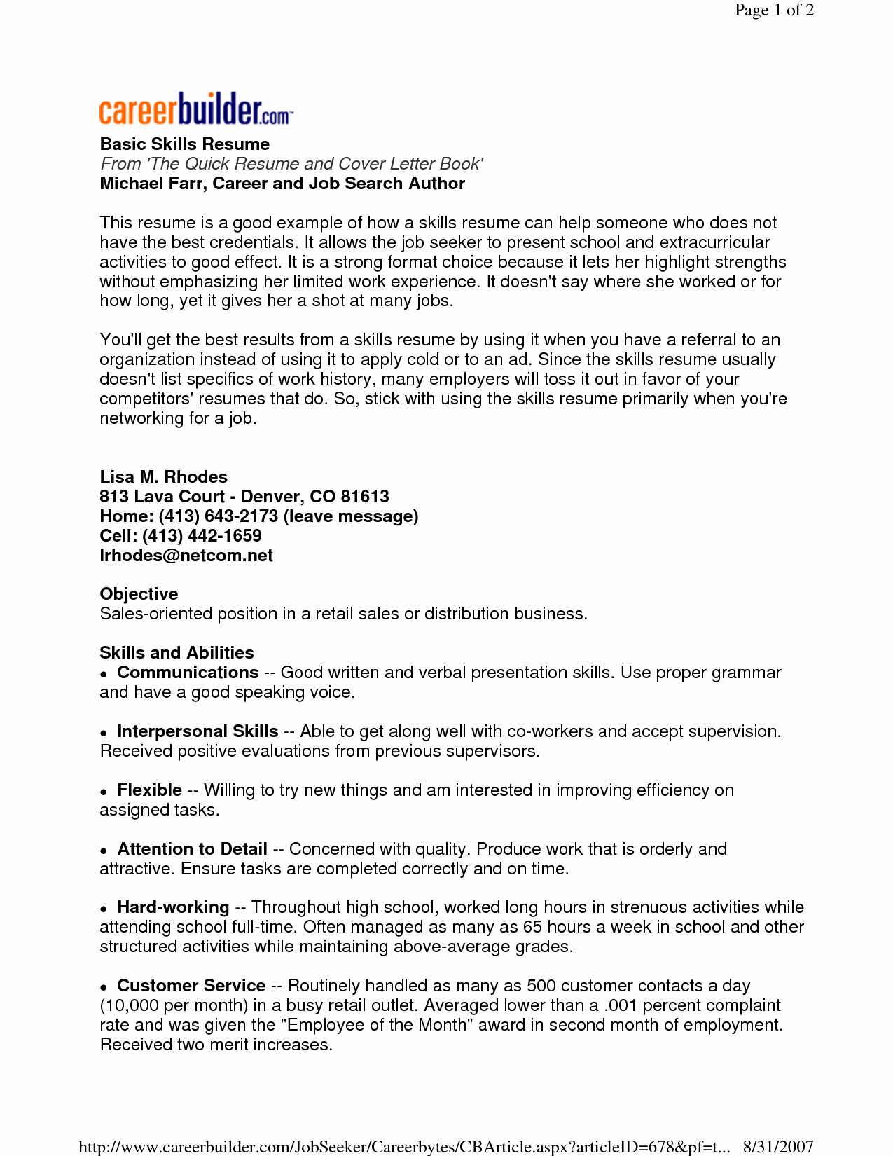 Simple Resume Examples for Jobs Elegant Find Here the Sample Resume that Best Fits Your Profile In