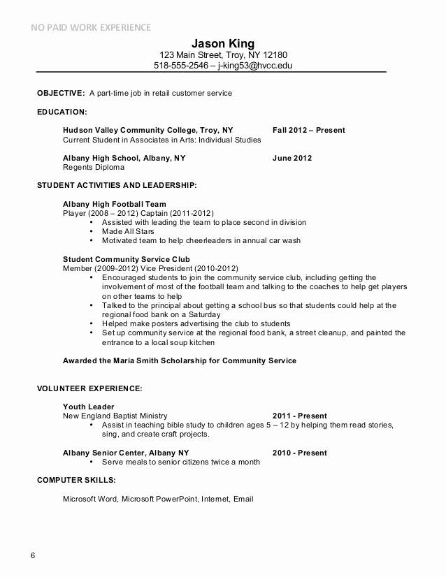 Simple Resume Examples for Jobs Fresh Basic Resume Examples for Part Time Jobs Google Search