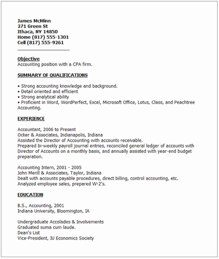 Simple Resume Examples for Jobs Inspirational Examples Good Resumes that Get Jobs