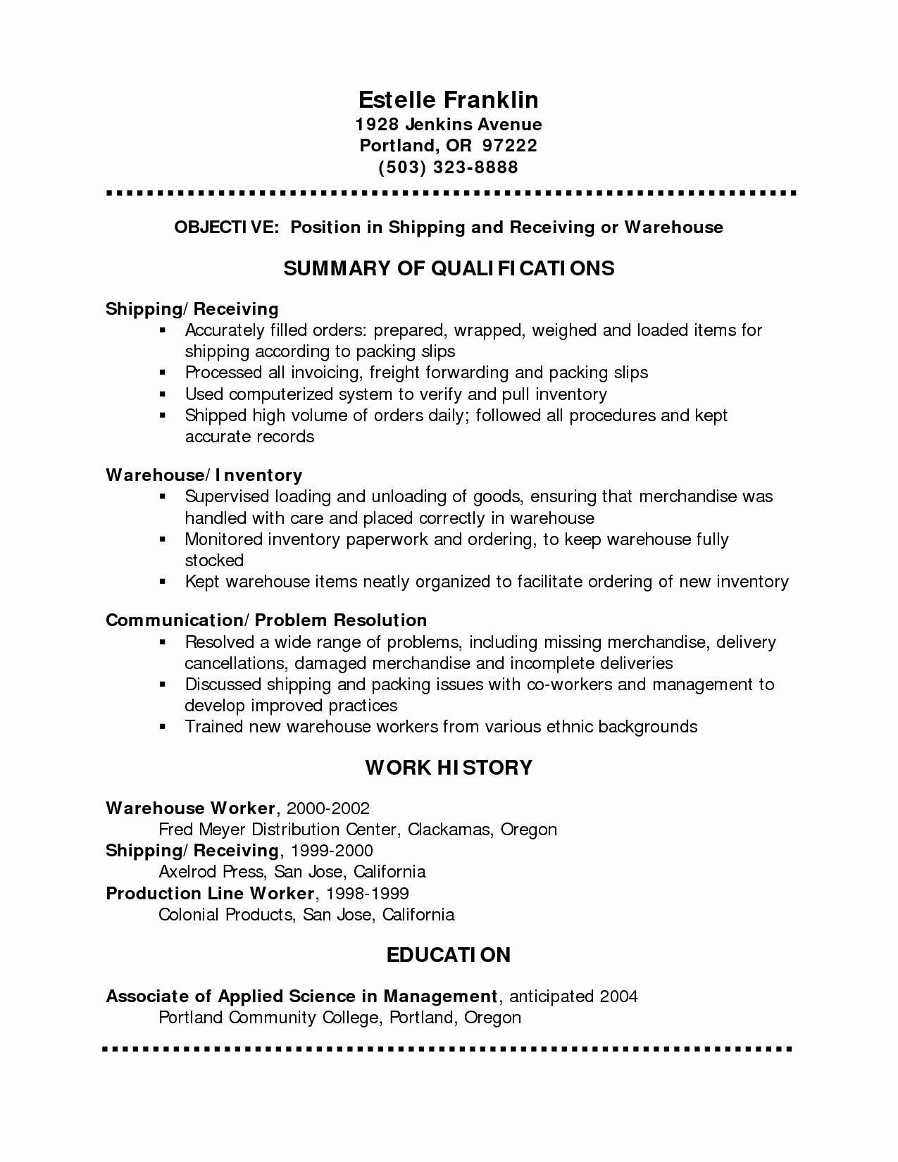 Simple Resume Examples for Jobs Lovely Basic Resume Outline Template