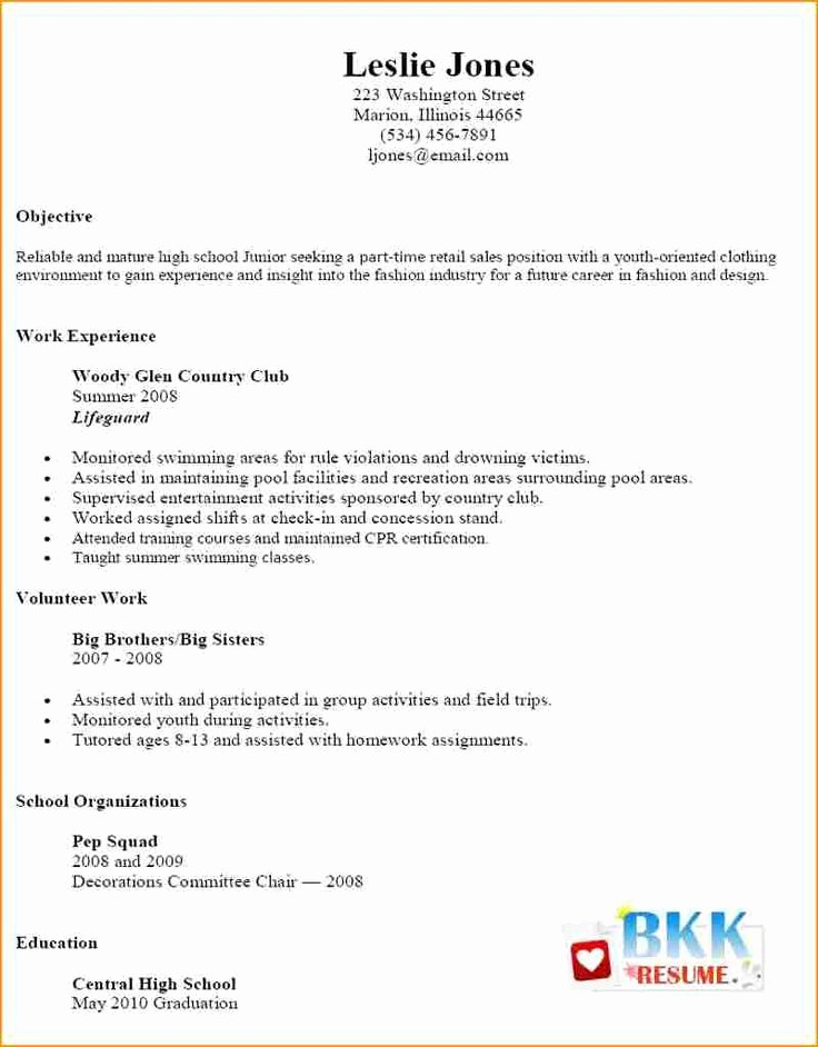 Simple Resume Examples for Jobs Luxury Best 25 Basic Resume Examples Ideas On Pinterest