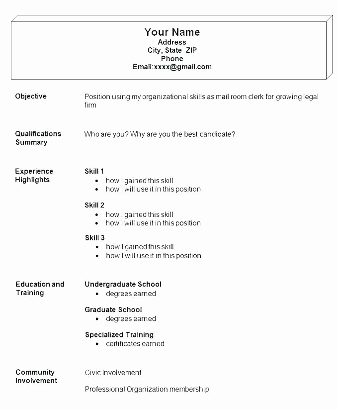 Simple Resume Examples for Jobs Unique 10 11 Sample Job Resumes