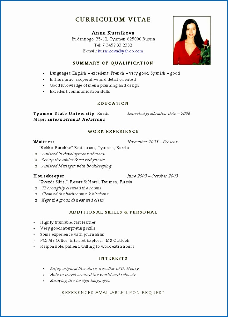Simple Resume Examples for Jobs Unique Simple Resume for First Time Job 20 First Time Job Resume