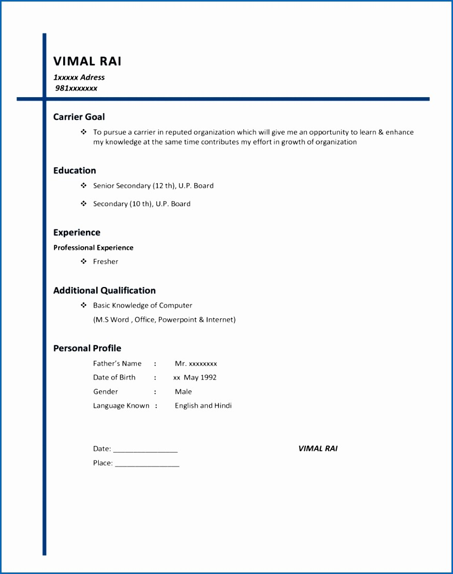 Simple Resume Examples for Students Awesome 11 Basic Resume Sample for Students