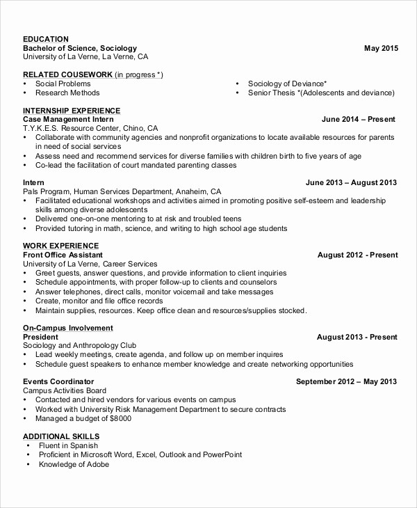 Simple Resume Examples for Students Beautiful 8 Basic Resume Samples Examples Templates