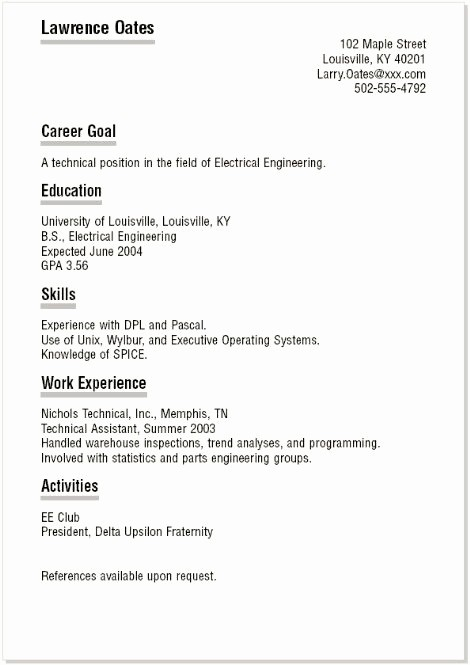 Simple Resume Examples for Students Best Of 11 Best College Student Resume Images On Pinterest