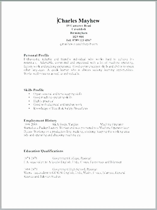 Simple Resume Examples for Students Best Of Easy Resume format – Amere