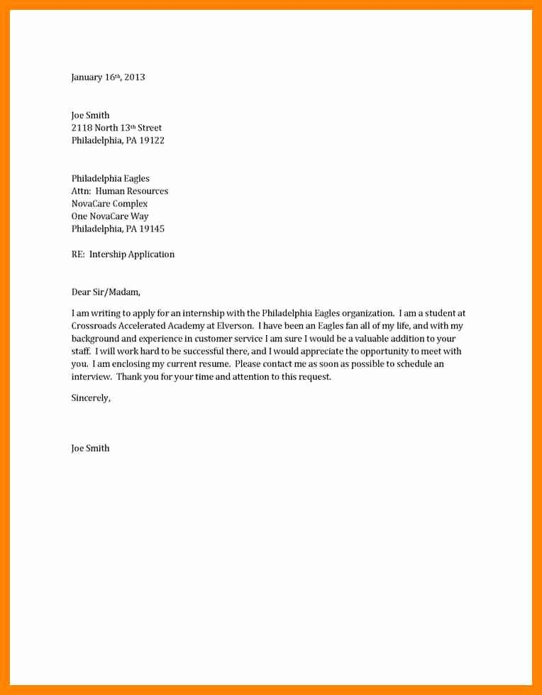 Simple Resume Examples for Students Elegant 9 Simple Cover Letter Examples for Students