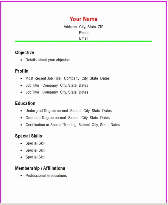 Simple Resume Examples for Students New Simple High School Students and Student On Pinterest