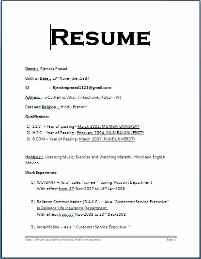 Simple Resume Examples for Students Unique Simple Student Resume format Best Resume Collection