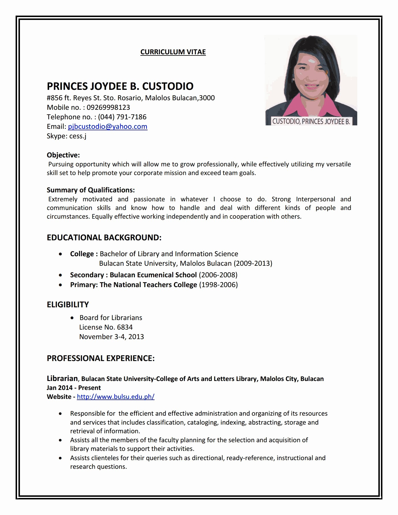 Simple Resume format for Job Awesome 18 How to Make A Cv