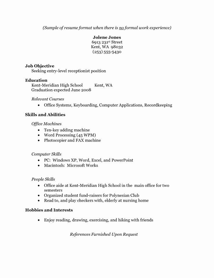 Simple Resume format for Job Beautiful 17 Best Ideas About Simple Resume Examples On Pinterest