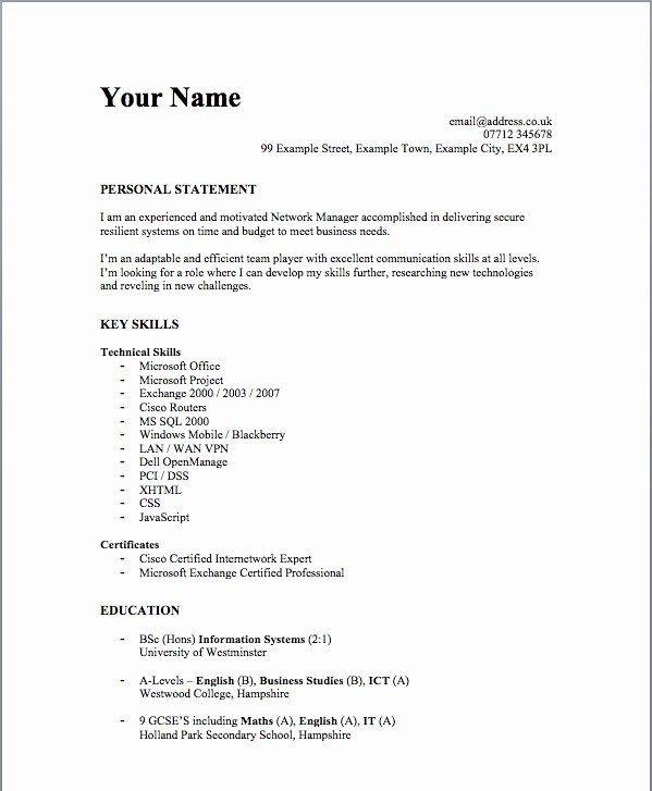 Simple Resume format for Job Elegant Simple Job Resumes Examples