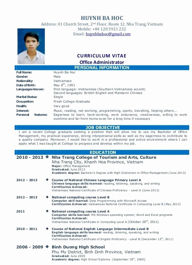 Simple Resume format for Job Lovely Simple Resume Sample for Job Resume Pinterest