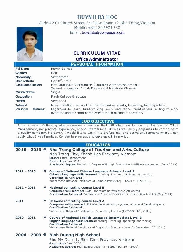 Simple Resume format for Job Lovely Simple Resume Sample for Job Resume Pinterest