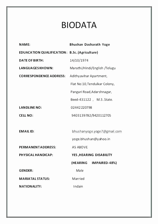 Simple Resume format for Job New Gallery Of Simple Resume format Simple format
