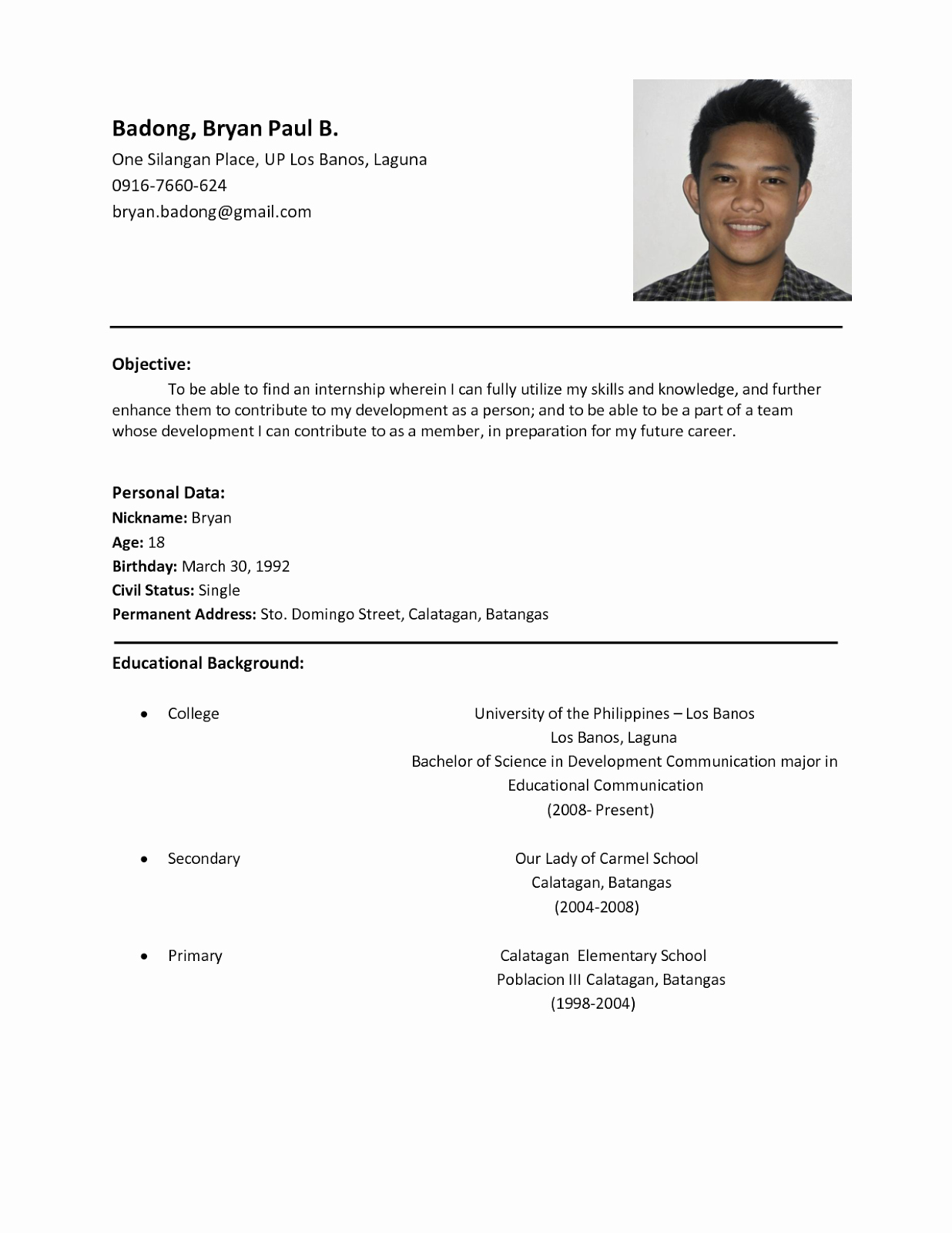 Simple Resume Template for Students Beautiful Sample Resume format for Students