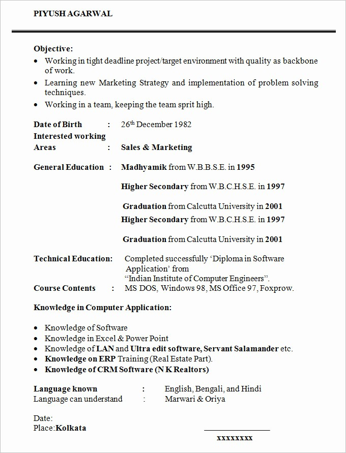 Simple Resume Template for Students Inspirational 36 Student Resume Templates Pdf Doc