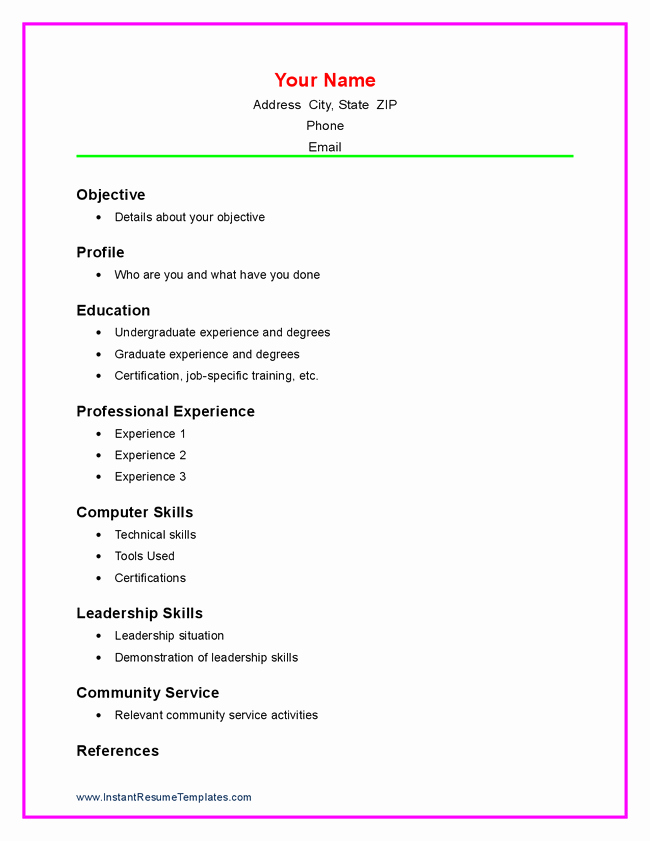 Simple Resume Template for Students Inspirational Example Simple Resume for Student