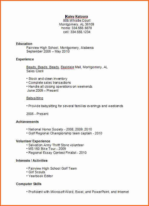Simple Resume Template for Students Lovely 7 Basic High School Resume Template Bud Template Letter