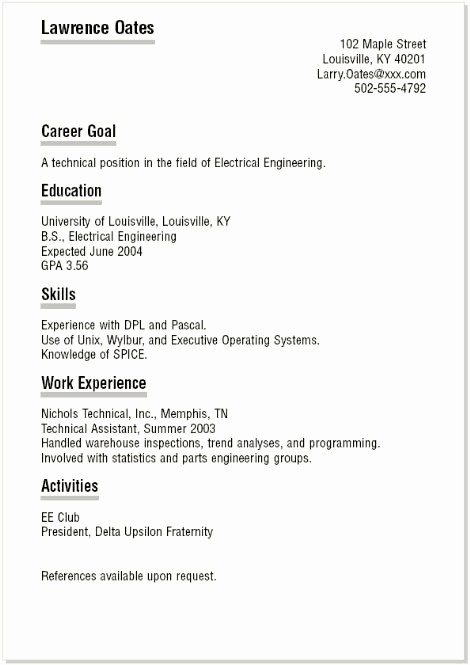 Simple Resume Template for Students Luxury Basic Resume Templates for High School Students Best