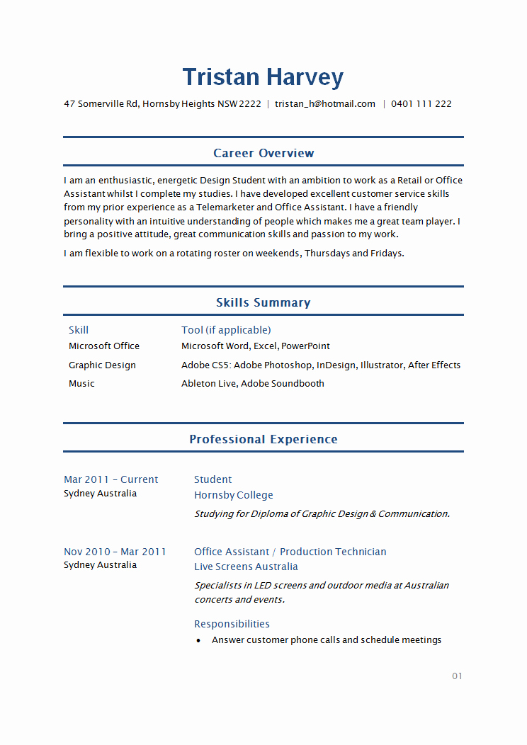 Simple Resume Template for Students Unique How to Write A Student Resume