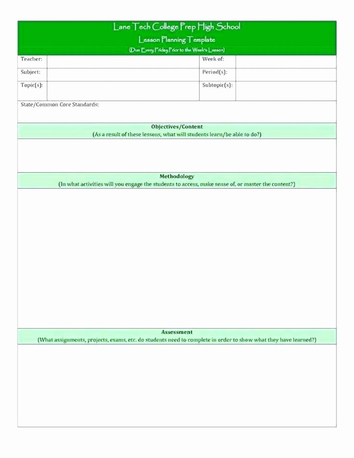 Single Subject Lesson Plan Template Awesome 7 New Blank Lesson Plan Template E Subject