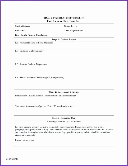 Single Subject Lesson Plan Template Elegant E Subject Lesson Plan Template Blank Lesson Plan