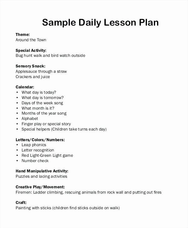 Single Subject Lesson Plan Template Fresh E Subject Lesson Plan Template Blank Lesson Plan