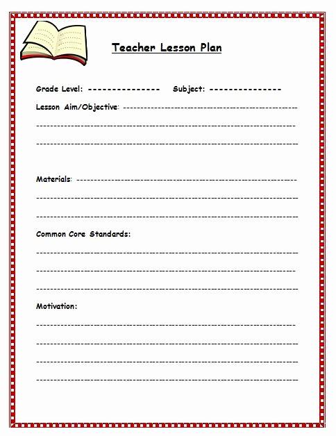 Single Subject Lesson Plan Template Lovely Teacher Lesson Plan Template Sarahepps