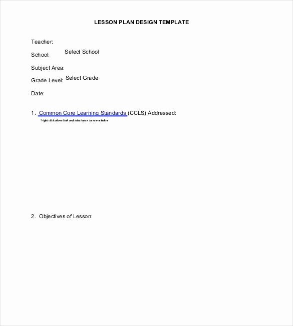 Single Subject Lesson Plan Template Luxury 59 Lesson Plan Templates Pdf Doc Excel