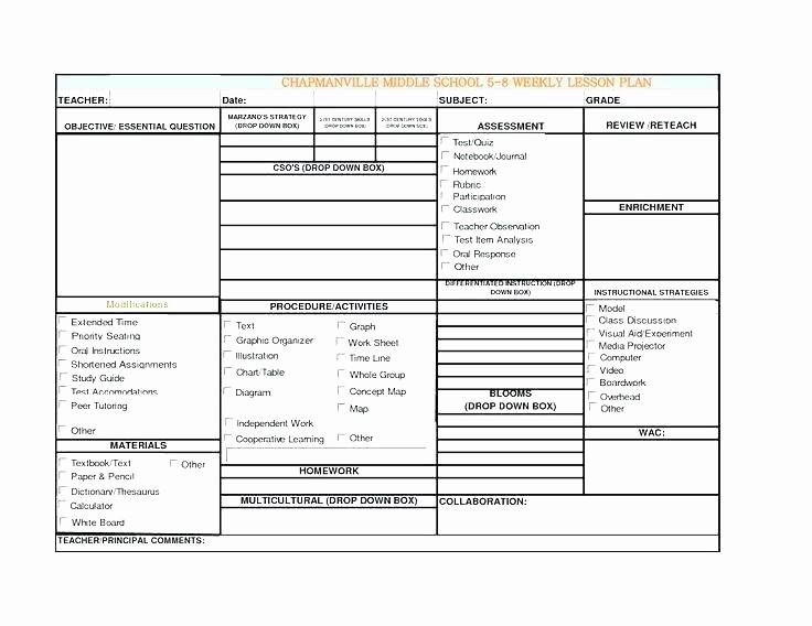 Single Subject Lesson Plan Template New One Subject Weekly Lesson Plan Template Single Lesson Plan