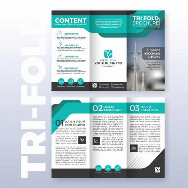 Size Of Tri Fold Brochure Awesome Brochure Vectors S and Psd Files