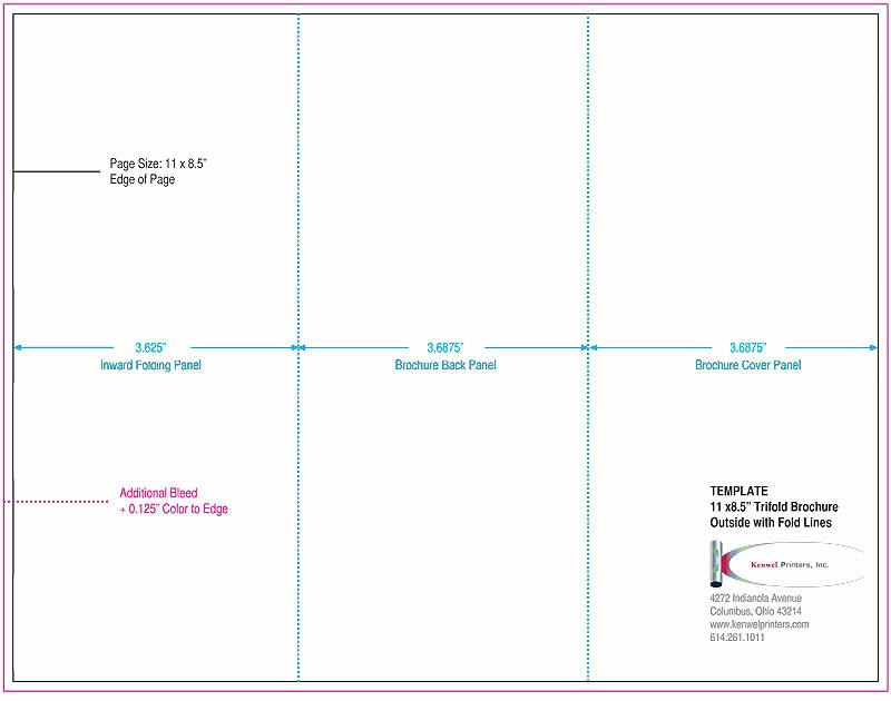 Size Of Tri Fold Brochure Best Of 5 Fold Brochure Template Trifold Brochures Kenwel Printers