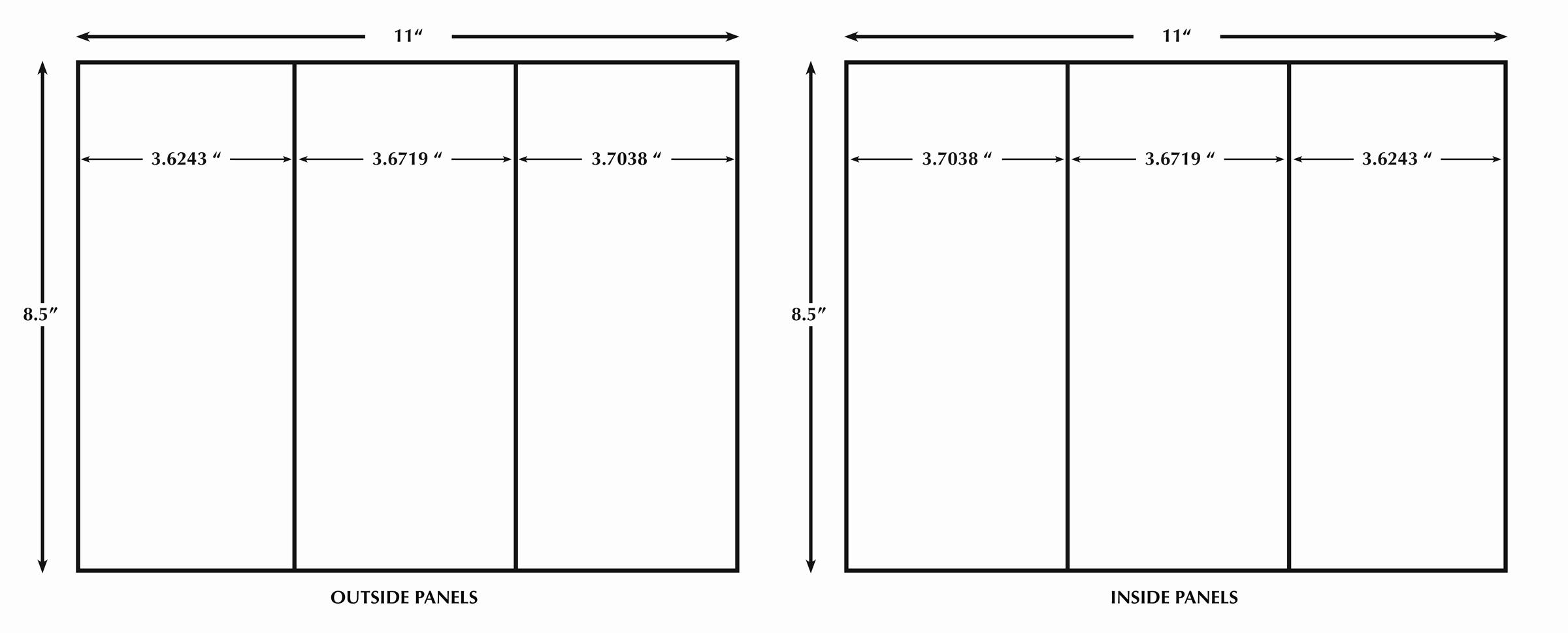 Size Of Tri Fold Brochure Elegant 13 Best S Of Indesign Tri Fold Brochure Size Free