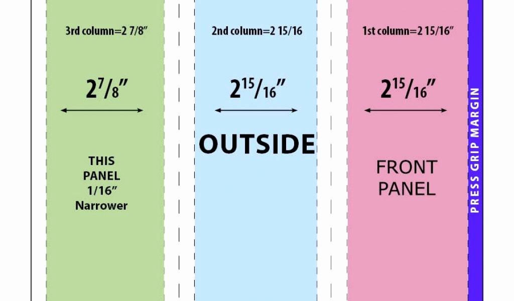 Size Of Tri Fold Brochure Fresh 50 Unique Tri Fold Brochure Margins